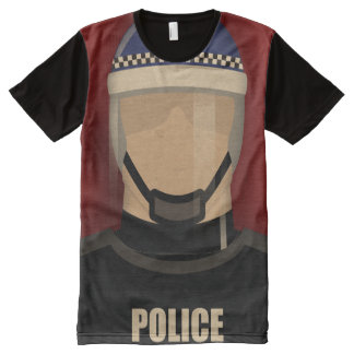 Police All-Over Print T-shirt
