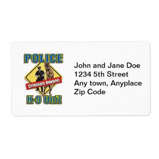 Police K9 Criminals Beware Label