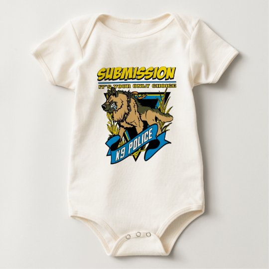 Police K9 Submission Baby Bodysuit