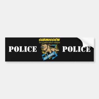 Police K9 Submission Bumper Sticker