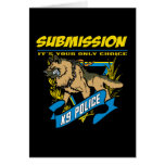 Police K9 Submission Card