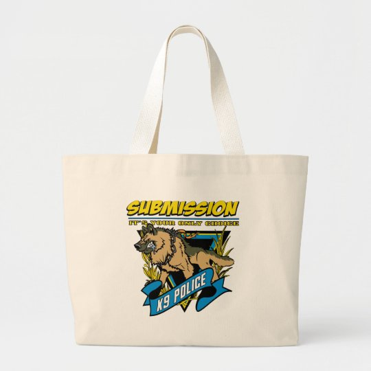 Police K9 Submission Large Tote Bag