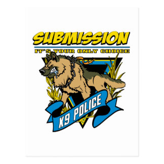 Police K9 Submission Postcard