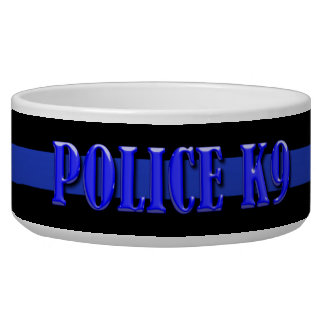 Police K9 - Thin Blue Line Bowl