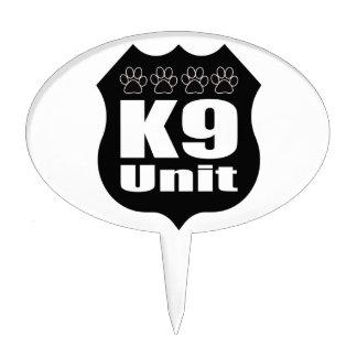Police K9 Unit Black Badge Dog Paws Cake Topper