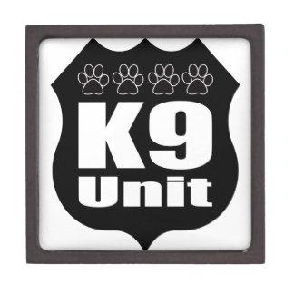 Police K9 Unit Black Badge Dog Paws Jewelry Box
