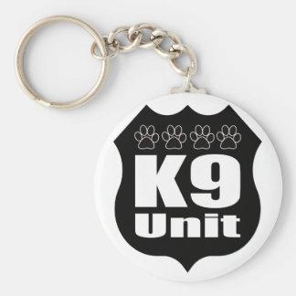 Police K9 Unit Black Badge Dog Paws Keychain
