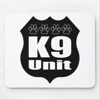 Police K9 Unit Black Badge Dog Paws Mouse Pad
