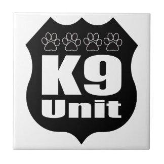 Police K9 Unit Black Badge Dog Paws Tile