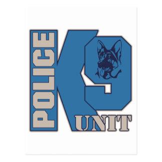 Police K9 Unit Dog Postcard