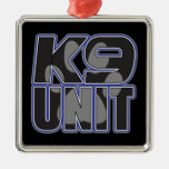Police K9 Unit Paw Print Christmas Ornament