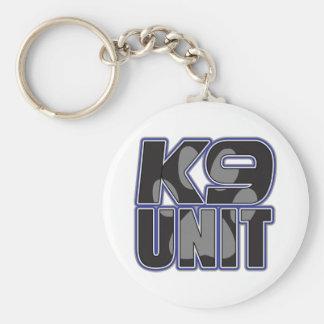 Police K9 Unit Paw Print Keychain