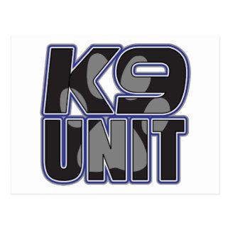 Police K9 Unit Paw Print Postcard