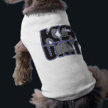 """Police K9 Unit Paw Print Shirt<br><div class=""""desc"""">K9 Unit gifts with large K9 UNIT lettering with inset dog paw print! Great K9 gifts for law enforcement K9 officers and supporters!</div>"""