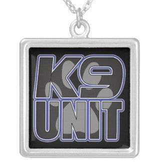 Police K9 Unit Paw Print Silver Plated Necklace
