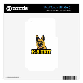 POLICE K9 UNIT DECALS FOR iPod TOUCH 4G