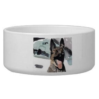police k-9 pet bowl