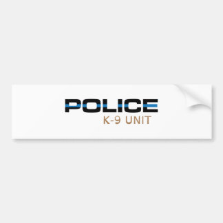 Police K-9 Unit Bumper Sticker