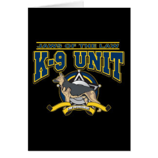 Police K-9 Unit Greeting Cards