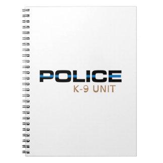 Police K-9 Unit Spiral Notebooks