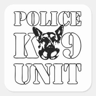 Police K-9 Unit Square Sticker