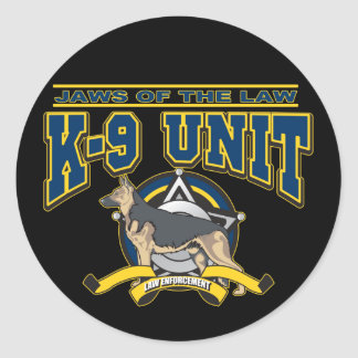 Police K-9 Unit Round Stickers