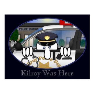 Police Kilroy Postcard 2