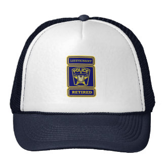 Police Lieutenant Retired Badge Mesh Hat