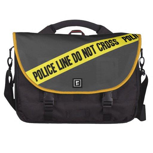 Police Line DO NOT CROSS Laptop Commuter Bag