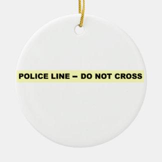 Police Line - Do Not Cross Christmas Tree Ornament