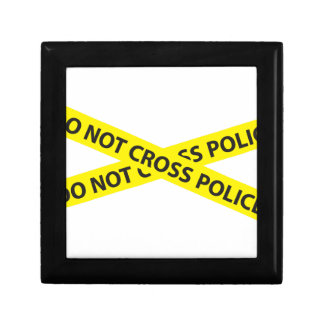 POLICE LINE DO NOT CROSS tape Keepsake Box