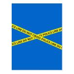 POLICE LINE DO NOT CROSS tape Post Card