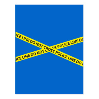 POLICE LINE DO NOT CROSS tape Postcard