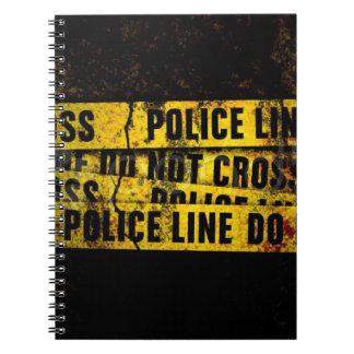 Police Line Spiral Notebook