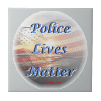 Police_Lives_Matter2 Azulejo Cuadrado Pequeño