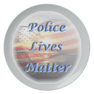 Police_Lives_Matter2 Dinner Plate