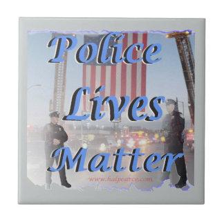 Police_Lives_Matter Azulejo Cuadrado Pequeño