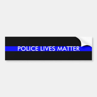 Police Lives Matter Bumper Sticker