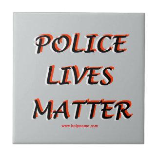Police_Lives_Matters_Words Azulejo Cuadrado Pequeño