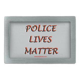 Police_Lives_Matters_Words Belt Buckles