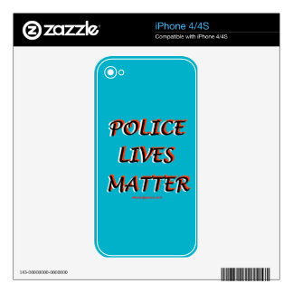 Police_Lives_Matters_Words Decals For The iPhone 4