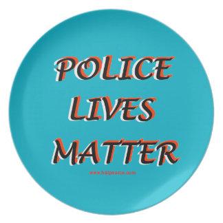Police_Lives_Matters_Words Melamine Plate