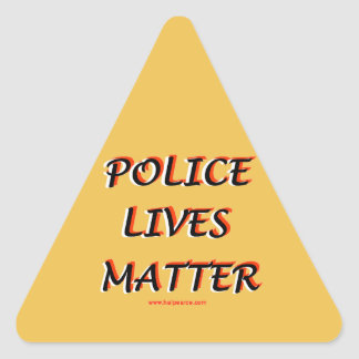 Police_Lives_Matters_Words Pegatina Triangular