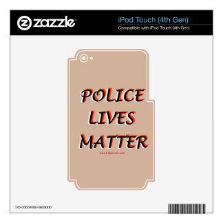 Police_Lives_Matters_Words Skin For iPod Touch 4G