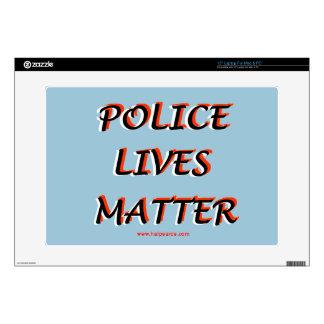 """Police_Lives_Matters_Words Skins For 15"""" Laptops"""