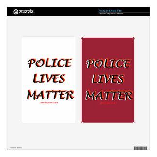 Police_Lives_Matters_Words Skins For Kindle Fire