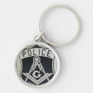 Police Masonic Keychain
