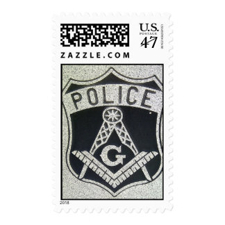 Police Masonic Postage Stamps