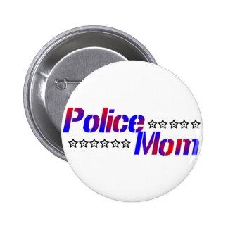 Police Mom 2 Inch Round Button