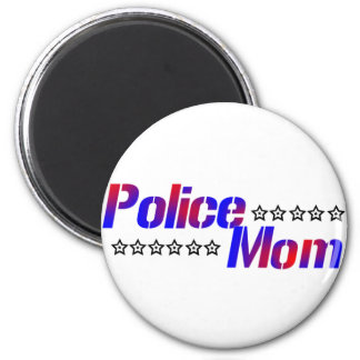 Police Mom 2 Inch Round Magnet